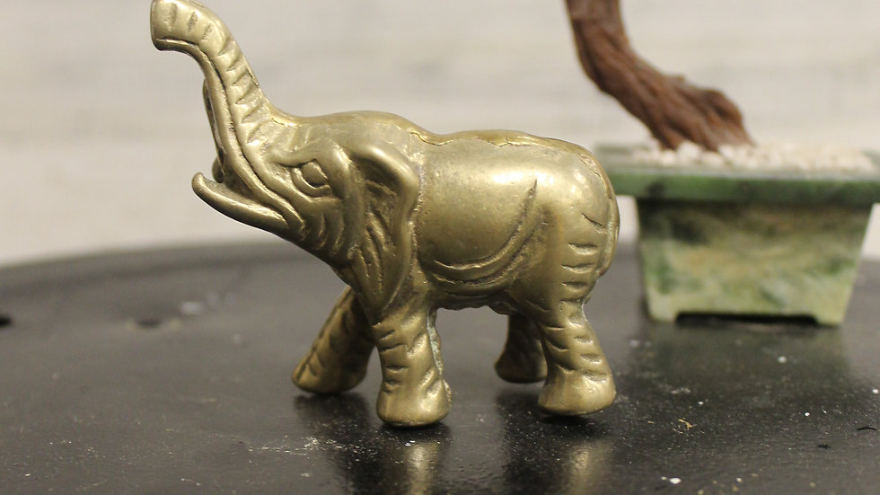 Brass Elephant Figurine-X-Small