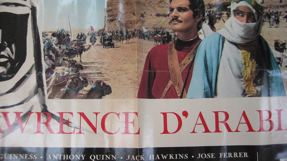 LAWRENCE OF ARABIA 3x2 ft Vintage French Grande Original Movie Poster 1963