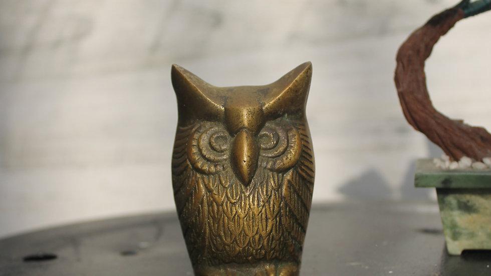 Brass Owl Figurine (D1)-Small