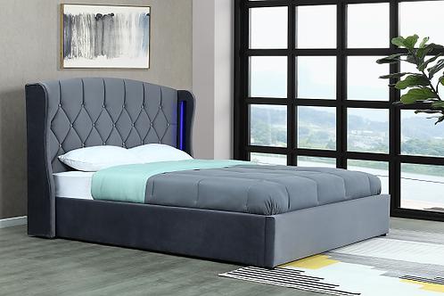 Brand New Vienna LED Velvet Bed Frame in Queen/King | Citylife Furniture, Sumner
