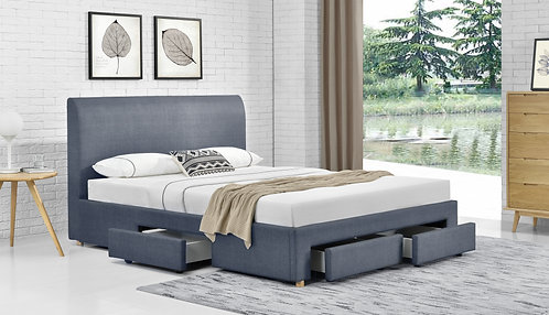 Brand New Masco Fabric Bed Frame with 4 Drawers | Queen/King sizes - Citylife Furniture, 42 Spine St, Sumner 4074