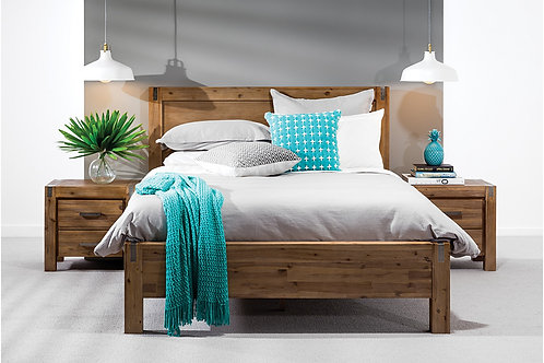 Brand New SUNSHINE Timber Bed Frame in Double, Queen & King sizes | Bed Factorie, Morayfield
