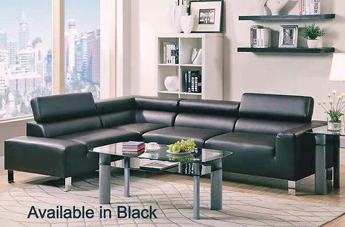 Brand New DENVER Corner L Shape Sofa in Black   Citylife Furniture, Brisbane