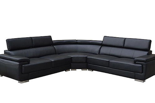 Brand New CASPER Corner Sofa in Black | Bed Factorie, Morayfield
