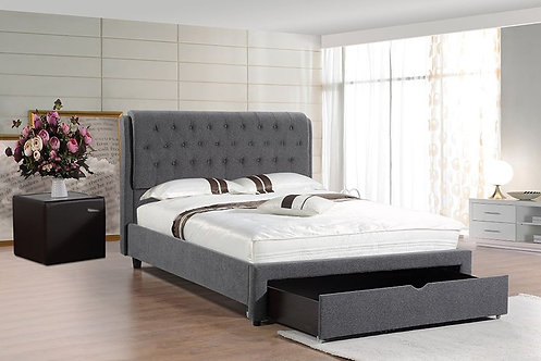 Brand New Madison Fabric Drawer Bed Frame in Queen/King | Citylife Furniture, Brisbane
