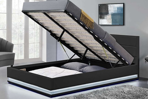 Brand New OXFORD LED Gaslift Storage Bed Frame in Queen & King sizes | Bed Factorie, Morayfield