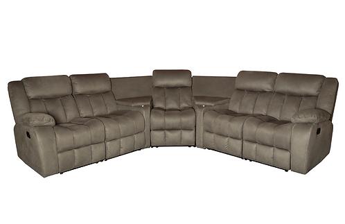 New Atlanta Home Theater Modular 3 Recliner Corner Sofa - Stone Color | Citylife Furniture Sofa Store, Sumner