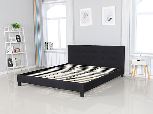 Brand New BRAVO Fabric bed Frame in Black in Queen/King | Bed Factorie