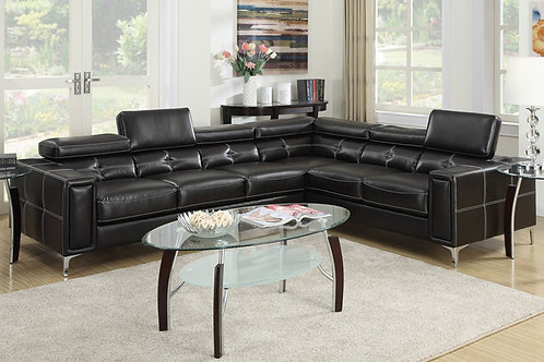 Brand New Diamond Corner Leather Sofa with foldable headrest | Bed Factorie, Morayfield