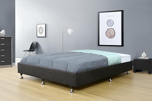 Brand New VIVIAN Bed base in Fabric Black/Beige | Citylife Furniture, Brisbane