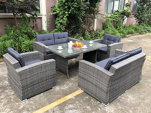 Brand New NEWPORT 2 in 1 Set  - 6 Seater + Dining Combo Outdoor Furniture Set | Citylife Outdoor Furniture Store, Brisbane