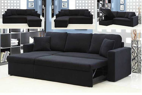 Brand New Transformer Fabric Chaise Sofa/Sofa Bed/Storage | Bed Factorie, Morayfield