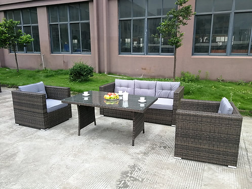 Brand New JUPITER Outdoor 5 Seater Sofa & Dining Table Combo | Citylife Furniture