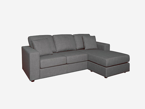 Brand New Skye Fabric Chaise Sofa - Charcoal Color Fabric - Citylife Furniture, Sumner
