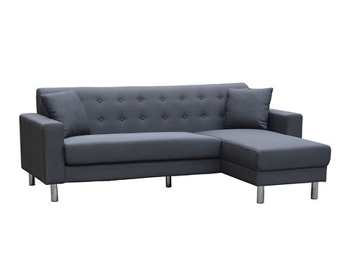 Brand New Alaska Fabric Chaise Sofa - Charcoal Color | Citylife Furniture, Sofa Store - Sumner