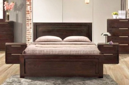 Brand New TITUS Acacia Wood Timber bed frame in Queen/King | Citylife Furniture, Brisbane