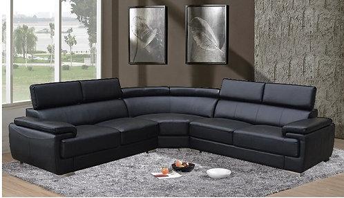 Brand New CASPER Corner Sofa - In Black | Citylife Furniture, Sumner