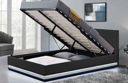 Brand New OXFORD LED Gaslift Storage Bed Frame in Queen & King sizes | Citylife Furniture, Brisbane
