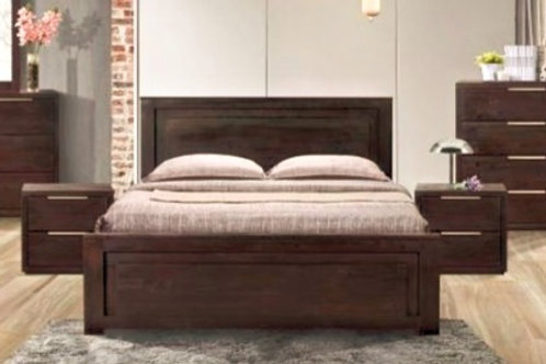 Brand New Titus acacia wood bed frame in Queen/King   Bed Factorie, Caboolture