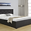 Brand New VON Fabric Black Gas Lift Storage Bed Frame | Citylife Furniture, Brisbane