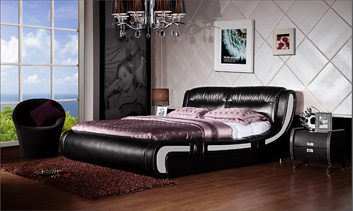 Brand New Modern LAVISH II Bed Frame - Queen/King sizes in Black | Citylife Furniture, Brisbane