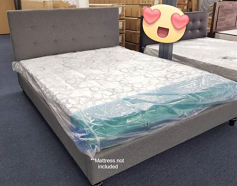 Brand New Metro Fabric Bed Frame in Grey | Citylife Furniture, Brisbane