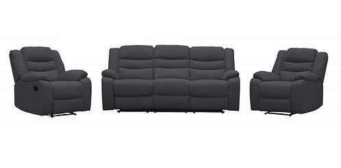 Brand New MORGAN Recliner Sofa Set in Charcoal Fabric   Citylife Furniture, Sumner