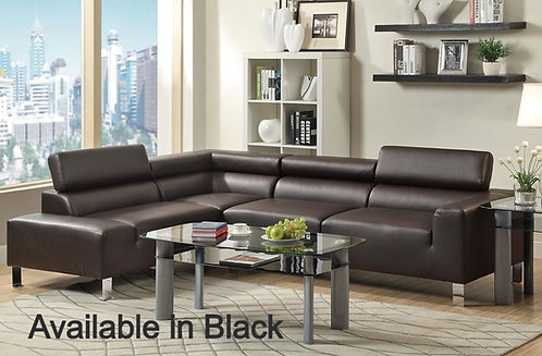 Brand New DENVER Corner L Shape Sofa in Black | Citylife Furniture, Brisbane