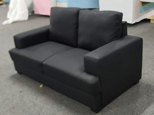 Brand New NIXON 3+2 Sofa Pair in Black Leather | Bed Factorie, Morayfield