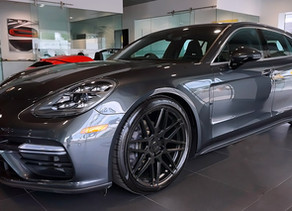 LOVELY LOMA PORSCHE PANAMERA SPORT TURISMO TUNING WITH CUSTOM FORGED WHEELS IN 21 INCHES