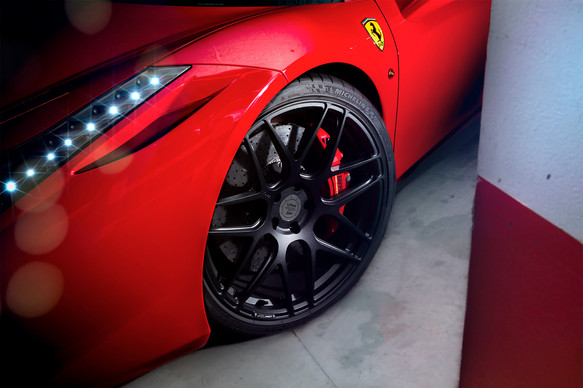 Ferrari Rims plus Custom Wheels.