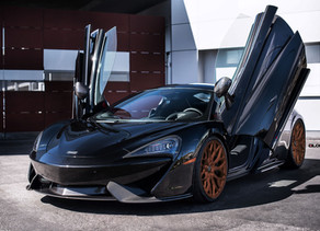 McLaren 570S Chip-Tuning to 690 HP and Stanced on LOMA BLACKFORCE ONE Staggered Forged Wheels!