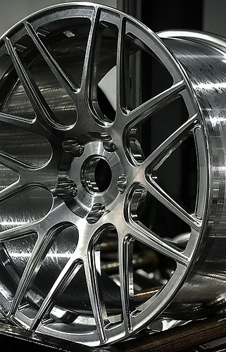 Fresh out of the machine. LOMA Wheels