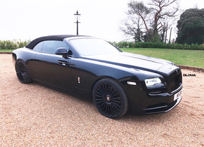 BEAUTIFUL UK LOMA ROLLS ROYCE DAWN ON 22-INCH FORGED WHEELS CALLED MONTE CARLO STAR IN BELUGA BLACK!