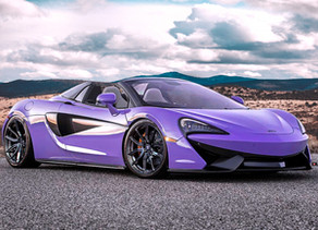 Purple Wrapped McLaren 570S Tuning Custom Forged Wheels Brushed in Dark Clear in 20×9,0 and 21×11,5