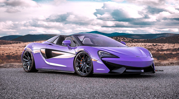 McLaren Custom Forged Wheels.