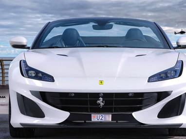 Ferrari Portofino Body Kit Carbon Front Lip Spoiler.