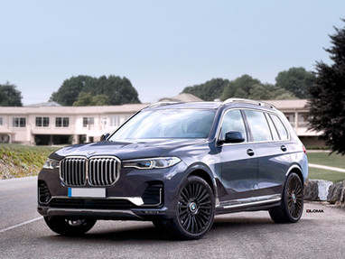 BMW X7 BLACK RIMS.