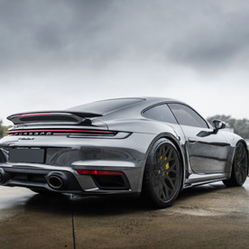 2021 Porsche 992 Turbo Custom Forged Wheels called LOMA BLACKFORCE ONE