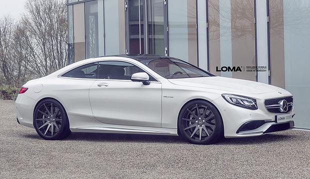 ALLOY FORGED RIMS MERCEDES S63 AMG COUPE | LOMA BLACK EDITION WHEELS