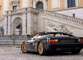 The Mighty Ferrari Testarossa with new LOMA Custom Wheels in 20-Inches