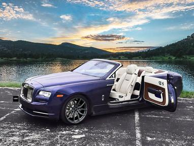 Rolls Royce Dawn with 22 Inch Custom Forged Alloy Rims.