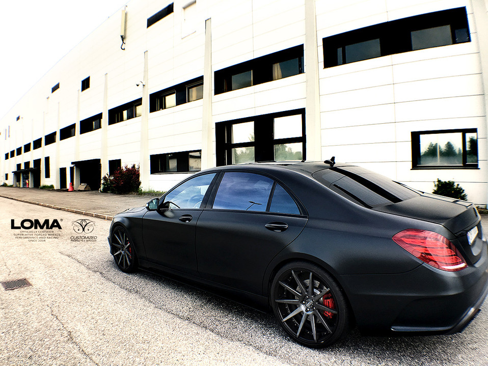ALLOY FORGED RIMS MERCEDES S63 AMG | LOMA BLACK EDITION WHEELS