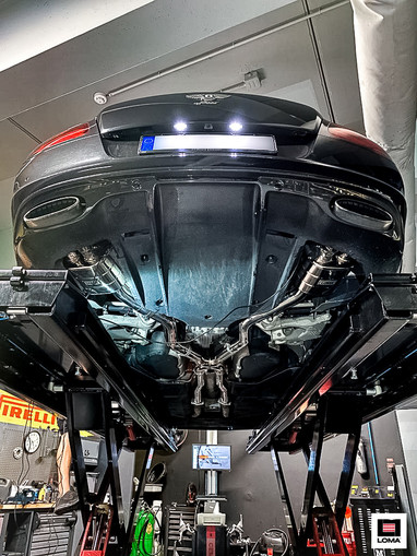 LOMA Sport Exhaust System Supersports for the Bentley GT Speed.