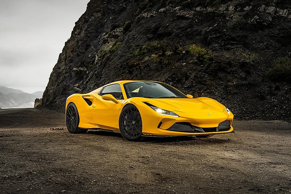 ferrari-f8-custom-wheels-yellow-front