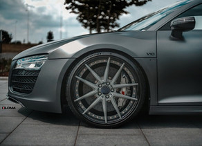 LOMA AUDI R8 V10 900 HP TUNING WITH BERLINETTA FORGED WHEELS IN 21-INCHES SOMEWHERE IN GERMANY