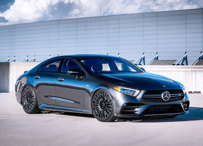 2020 Mercedes CLS Stanced with LOMA Monte Carlo Wheels in 21-Inches