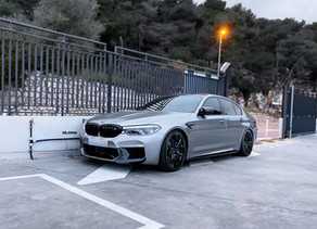 710 HP LOMA BMW M5 SMOKES SOME TIRES AND  THE RS1 SUPERLIGHT FORGED WHEELS IN 21-INCHES ARE SUBLIME!
