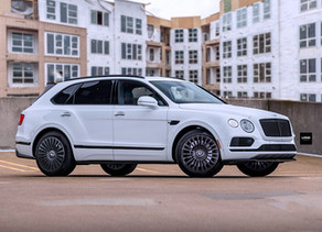 2019 LOMA BENTLEY BENTAYGA V8 TUNING ON MONTE CARLO STAR CUSTOM FORGED WHEELS IN 22-INCHES