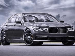 LOMA BMW 750 IX TUNING ON 21-INCH CUSTOM FORGED WHEELS CALLED MONTE CARLO STAR IN BELUGA BLACK